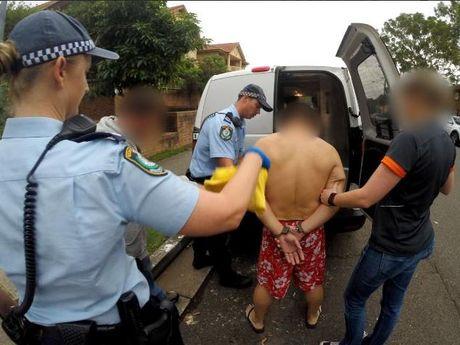 $1 billion worth of 'ice' has been seized in Hurstville and Campsie.  Photo: Seven News Sydney / Twitter
