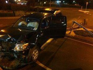 Cops investigate Buderim roundabout crash