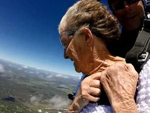 WATCH: 90 year old Betty jumps out of a plane