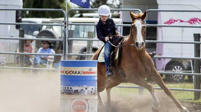 Eight-year-old Mia Beauchamp is ready to prove herself in America for the 2016 National Barrel Racing Association Youth World Finals. Photo: Contributed