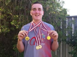 Rising Warwick athlete's gold medal haul