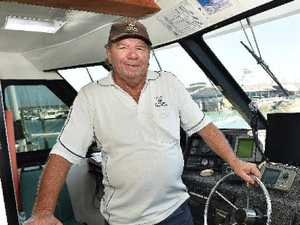 BUMPER: Hervey Bay Whale Watch owner Brian Perry is noticing the visitor increase on board his boat Quick Cat II.
