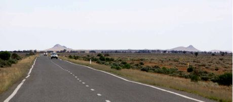 Approaching Broken Hill from Wentworth, western NSW.