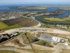 An aerial view of West Ballina and the major bypass construction works currently underway on the Pacific Highway. photo David Nielsen/The Northern Star