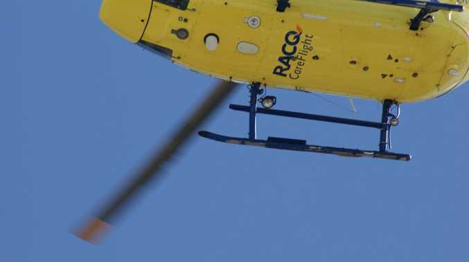 AN injured hiker has been lifted off Tabletop Mountain by RACQ Careflight helicopter.