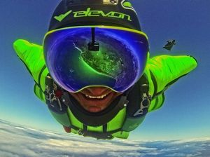 Tradie downs tools to chase US wingsuit dream