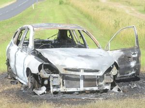 Car burnt out in South Grafton