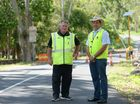 Councillors Neil Fisher and Tony Williams at the base of Pilbeam Drive Mt Archer. Photo Allan Reinikka / The Morning Bulletin