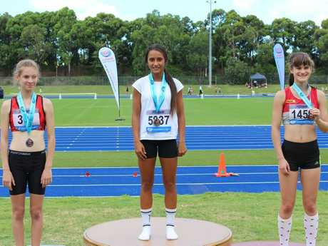 Nathalie Avery won her first NSW Junior Athletics Championships gold medal when she won the Under-14 girls 100m in 13.00 seconds on Sunday, 7th of February, 2015.Photo Contributed