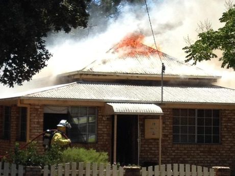 The house burns in Pittsworth. Photo S. Schultz