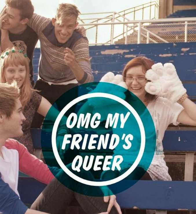 COMING OUT: One of the Minus18 pamphlets available through the Safe Schools program, OMG my friend's queer, aims to educate school children about gender and sexuality.
