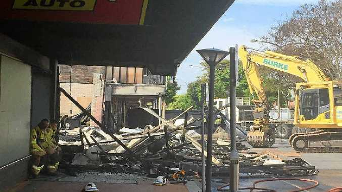 DELAYED: The Imperial Hotel fire investigation and clean-up are on hold until insurance claims are finalised.