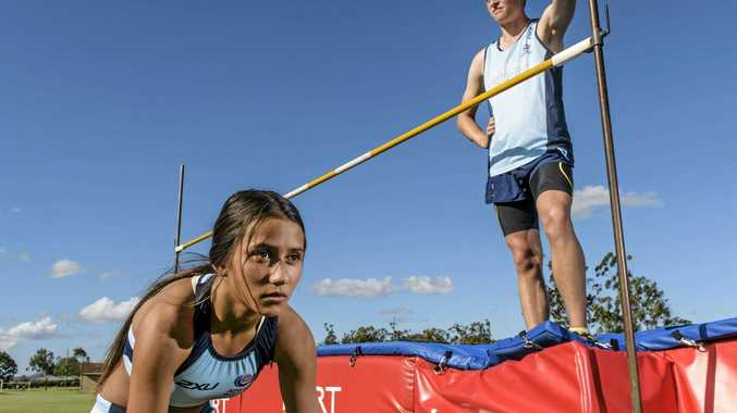 AIMING HIGH: Sprinter Nathalie Avery and high jumper Kyle McIlveen will compete at the Australian Junior Athletics Championships in Perth next month.