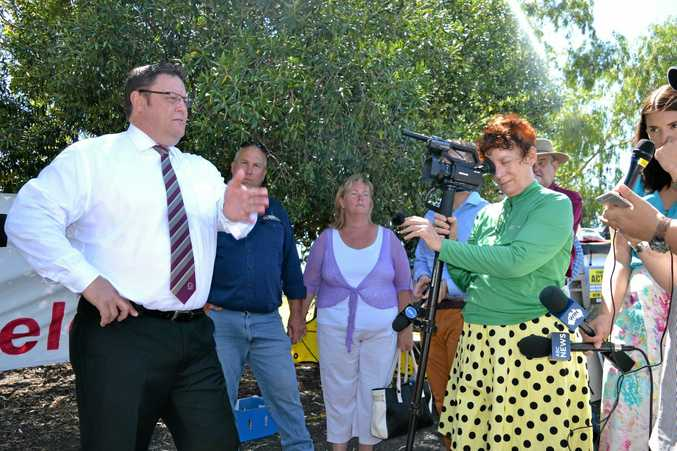 """NOT BIASED: Senator Glenn Lazarus defends his committee's position on CSG, which he described as a """"scourge"""" last week."""