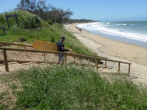 NQBP installs stairs at North Wall for keen surfers