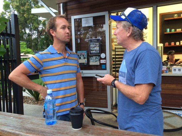Jess Glasgow talks with Noosa reporter Peter Gardiner.