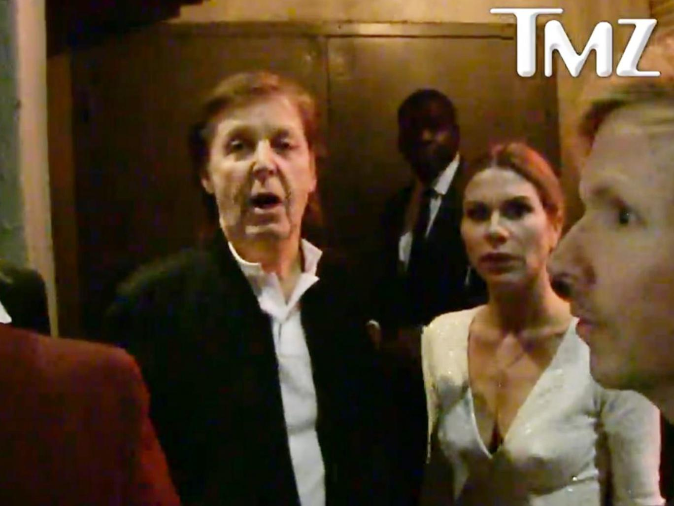 Former Beatle and recording legend Sir Paul McCartney is turned away from a Grammy's afterparty