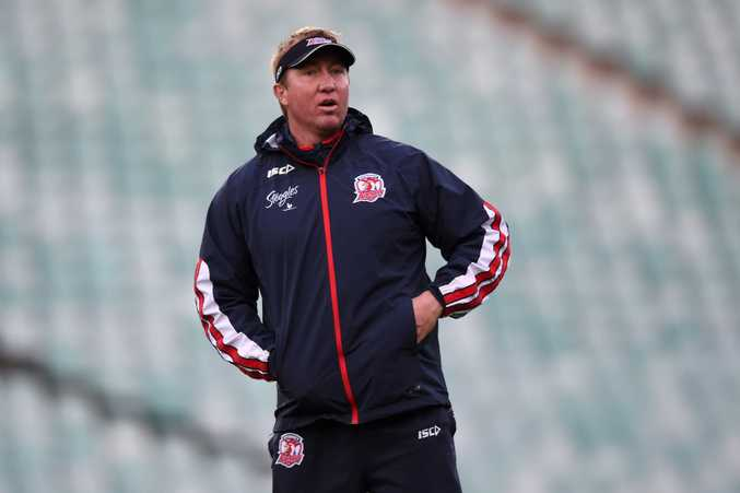 Sydney Roosters coach Trent Robinson has plenty to think about. Photo: AAP Images.
