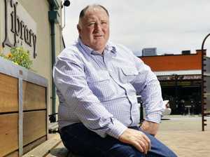 Lockyer Valley Regional Council Mayor Steve Jones stands in Laidley CBD. The council will install CCTV after conducting a trial in the area in October. Photo: Claudia Baxter / The Queensland Times