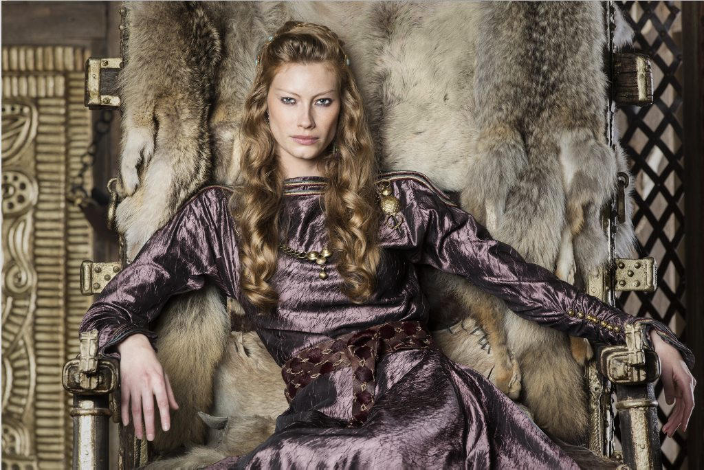 Alyssa Sutherland stars in the TV series Vikings.