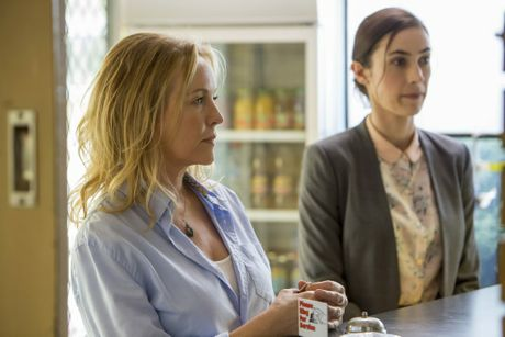 Rebecca Gibney and Geraldine Hakewill in a scene filmed at the Killarney Hotel.