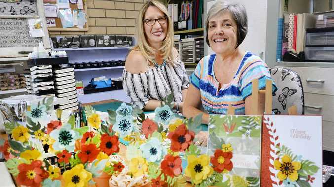 ART TIME: Robyn Lawton (left) and Noela Rothery are holding an art and craft retreat at Camp Somerset.