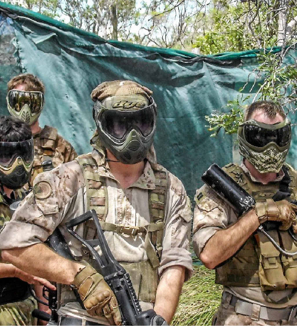 ON FIELD: Spartan Paintball has rebuilt their premises after being hit by ex Tropical Cyclone Marcia and the 2013 floods.