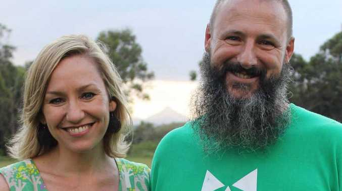 PLANNING FOCUS: Queensland Greens Senator Larissa Waters with Greens candidate for Noosa Council Aaron White.
