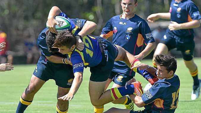 SEASON OPENER: The Sunshine Coast under-15s in action at Caloundra on Sunday.