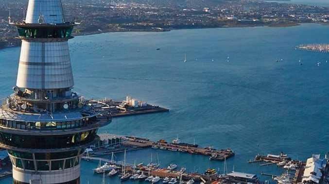 SkyCity Casino overlooking Auckland landscape