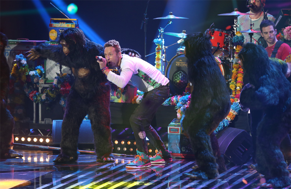 Coldplay took out the Godlike Genius prize at last night's NME Awards in London.