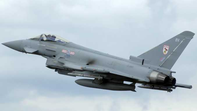British Typhoon jets were sent to escort the Russian planes out of the area.