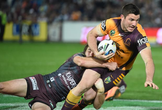 Brisbane Broncos' Matt Gillett is ready for a tough clash against Wigan. Photo: AAP Image.