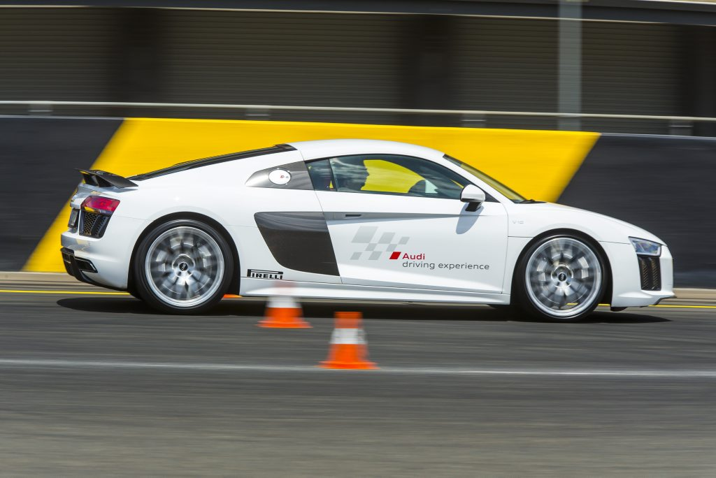 Pre-production 2016 Audi R8 V10 Plus Coupe being tested at Sydney Motorsport Park. Photo: Mark Bean