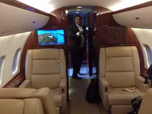 All aboard! Take a look inside Clive Palmer's private jet