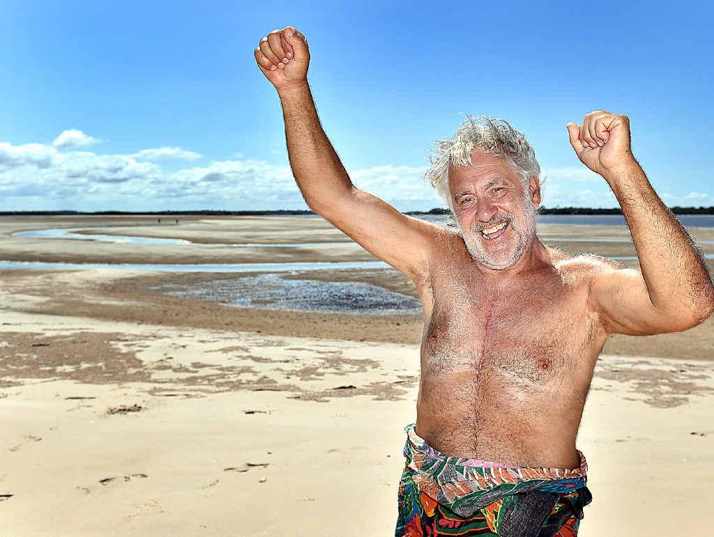 FLOWER POWER: Herb Taylor wants to establish a nudist resort near Burrum Heads.