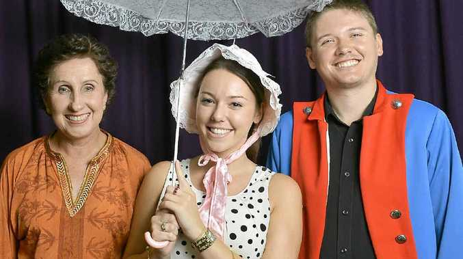 SHOW-STOPPERS: Melissa Fellows, Krystal Spark and Nick Kirkup in Encore! Scenes and Show-stoppers.