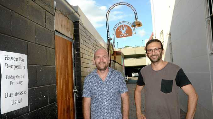 NEW FACES: Jamie Dowling and Charlie Sleeman   will work at Haven Bar  when it reopens.