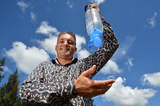 Stuart Mason has won a prestigious award for his SpaTap invention. Photo: Warren Lynam / Sunshine Coast Daily