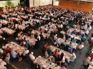 650 fill Pavilion to hear Costello speak