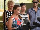 Steve Jone's daughter-in-law Stacey Ebert makes an announcement to the press at Gatton on Saturday, February 20, 2016 about Steve's passing. Photo Ali Kuchel / Gatton Star