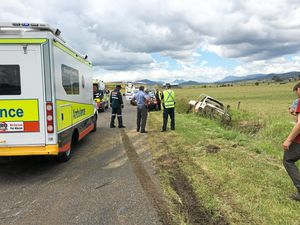 Person thrown from vehicle in Goomburra roll-over