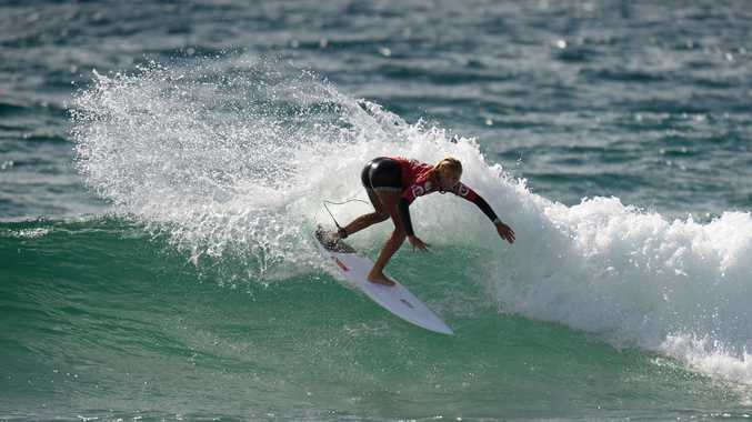 IN CONTENTION: Jaleesa Vincent in a previous event. She is surfing well at a Pro Junior event this weekend.
