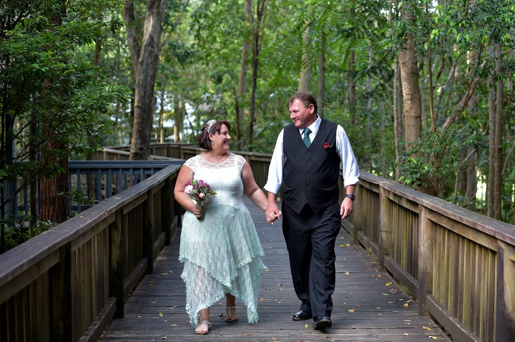 Belinda and Michael Stanton shocked family and friends with a surprise wedding on Valentine's day. Photo: Warren Lynam / Sunshine Coast Daily