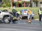 Two vehicle traffic crash at the intersection of Urraween Rd and Maryborough Hervey Bay Rd. Photo: Alistair Brightman / Fraser Coast Chronicle