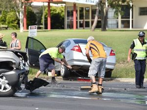 WATCH: Elderly woman in hospital after intersection crash