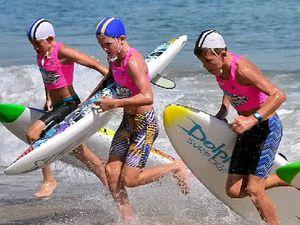 Junior warriors amid the waves