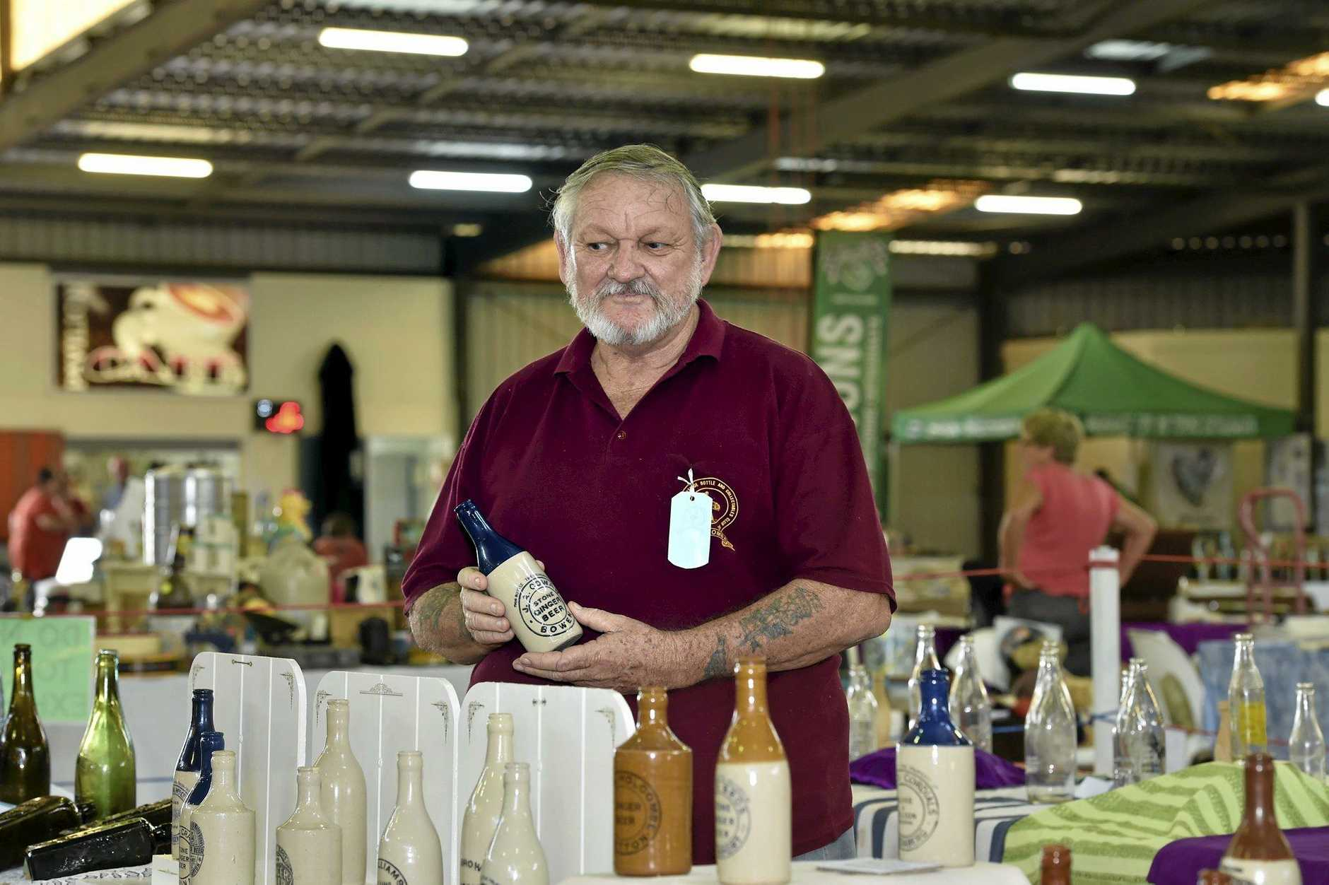 Daryl Jenkin at the Antiques and Collectables at Toowoomba ShowgroundsFebruary 21, 2016