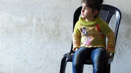 A young Syrian refugee in the Lebanese camp.