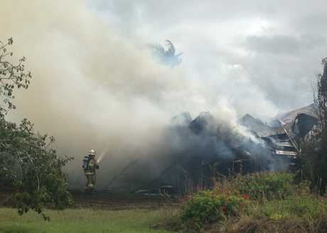 HOUSE FIRE: A house has burnt to the ground in Avocado Drive Childers.